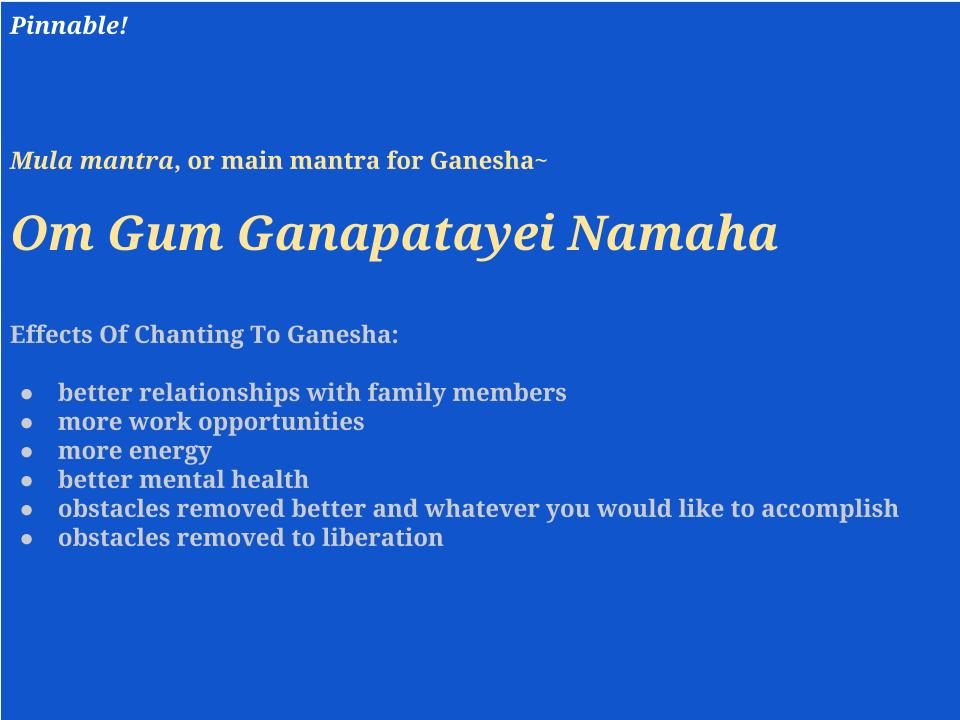 Effects Of Chanting To Ganesha